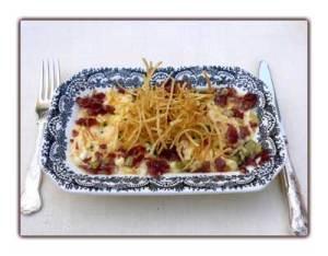 Oeufs brouillés aux pommes de terre et jamon iberico