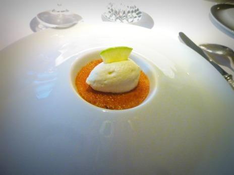 Crème de foie gras à la pomme verte, Anne Sophie Pic