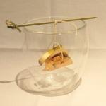 Bouchées de St Jacques et foie gras et cèpes à la ficelle