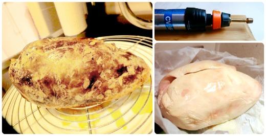 Foie gras frais à la flamme