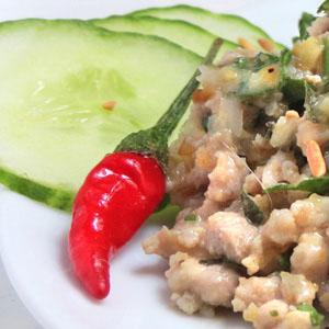 larb khai salade tha de poulet hach aux herbes la plus petite cuisine du monde ou presque. Black Bedroom Furniture Sets. Home Design Ideas