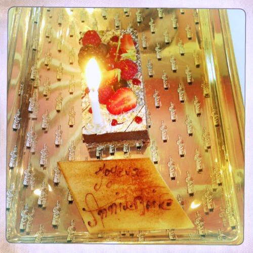 Gâteau d'anniversaire chez Bocus