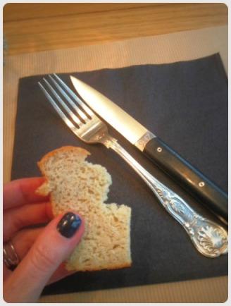 Le pain à la farine de pois chiches