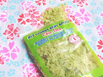 riz gluant vert