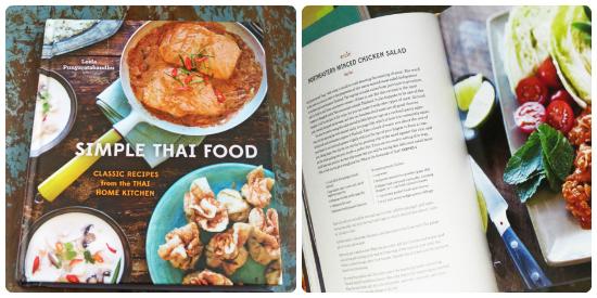 Livre de recettes de cuisine thäïlandaises