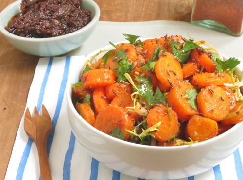 Salade de carotte épicée ottolengh